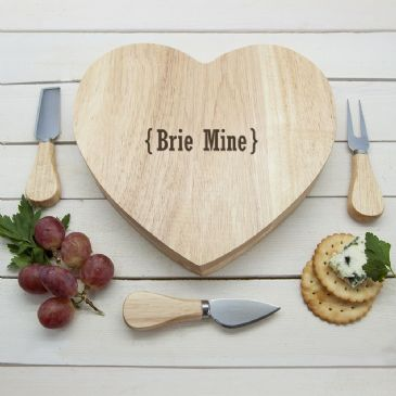 Romantic Brackets Heart Cheese Board